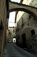 Street between buildings, Amelia, Province Of Terni, Umbria, Italy