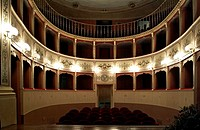 Interiors of a theatre, Panicale, Umbria, Italy