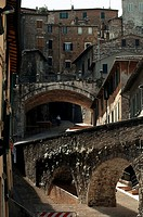 Low angle view of buildings, Perugia, Umbria, Italy