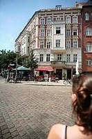 Germany, Berlin, Prenzlauer Berg, street café