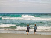 Two young boys at the beach (thumbnail)
