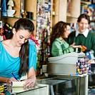 Employee Working in Store