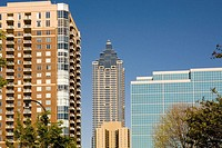 Bank of America Tower and Surrounding Buildings, Atlanta. Georgia. USA
