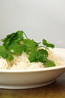Rice with fresh coriander