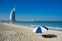 Middle East, UAE (United Arab Emirates), Dubai Burj al Arab beach