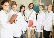 A group of people in a laboratory