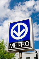 Montreal subway sign