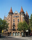 Casa Terrades (aka Casa de les Punxes, 1903-05) by Josep Puig i Cadafalch, Barcelona. Catalonia, Spain