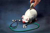 Photo showing the concept of saving money for medical costs