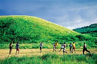 Jamaica, Golden Grove vicinity, playing rural football (thumbnail)