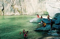 Domenican Republic, Jimenoa salto river, bathing