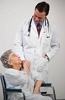 Doctor with senior woman patient