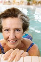 Senior woman in swimming pool
