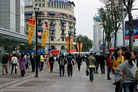 Street by the People´s Square, Shanghai