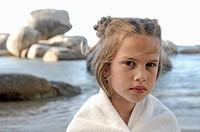 Portrait of a girl on the beach
