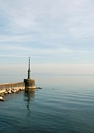 Breakwater with beacon