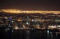 View of New Jersey at night, as seen from the Empire State Building, NY, USA