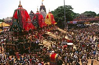 Rath yatra Rathyatra car festival the journey of Jagannath , puri , orissa , india