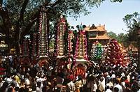 thypooya mahotsavam in koorkkancherry sree maheswara temple , kerala , india