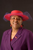 Reola Boyd.  Celebrating church hats and the women who wear them at Christ Pilgrim Rest MB Church in St. Louis