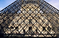 Pyramid, Louvre, Paris, France, Europe