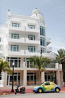 Florida, Miami Beach, Ocean Drive, Ocean Five Condominiums, Volkswagen,