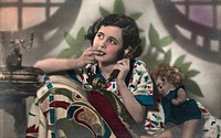 people, woman, 1920s, 20s, 20th century, historic, historical, phone, phoning,
