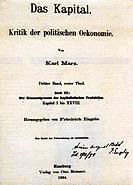 Marx, Karl, 5 5 1818 - 14 3 1883, deut Philosoph, Werk Das Kapital Kritik der politischen Ökonomie, Dritter Band, Hamburg, Verleg Otto Meissner, 1894,...