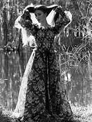 Seymour, Jane, * 15 2 1951, US Schauspielerin, britischer Herkunft, Ganzfigur, 1970er Jahre, Kleid, Bekleidung, Mode, Muster, gemustert, Stoffdruck, t...