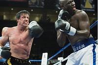 movie, Rocky Balboa, USA 2006, director: Sylvester Stallone, scene with: Sylvester Stallone Rocky and Antonio Tarver, ONLY PRINT MEDIA !!! drama, boxe...