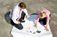 Business people planning some strategy