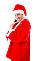 Sexy woman in santa suit