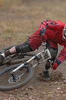 Mountain Biker Wiping Out
