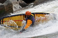 Whitewater Canoeist