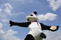 Panda Throwing a Discus