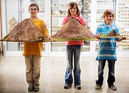 Students Holding Model Volcanos (thumbnail)