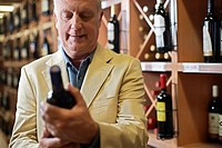 Man Selecting Wine