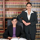 Hispanic female lawyers in office