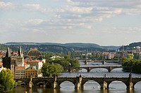 Arched Bridges Across the Vltava River