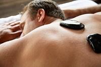 Man Having LaStone Therapy