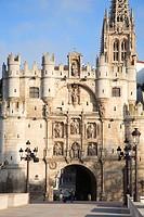 Spain, Castilla Leon, Burgos, Arco de Santa Maria
