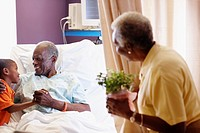Senior Patient Getting Visit from Family