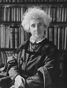Lady Margaret Lindsay Huggins 1848-1915, British astronomer, wearing academic robes  Lady Huggins, born Margaret Lindsay Murray, was the wife of the a...