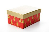 Christmas gift box with separate lid