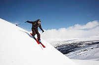 Norway, Rondane National Park, Skier