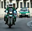 German policeman on a motorcycle
