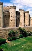 La Aljaferia, Zaragoza, Aragon, Spain