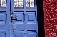 Blue Door, Ault, La Somme, Picardie, France