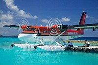 Twin otter from, Maldivian Air taxis arriving with passengers