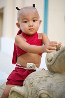 Thai Temple Child, Bangkok, Thailand